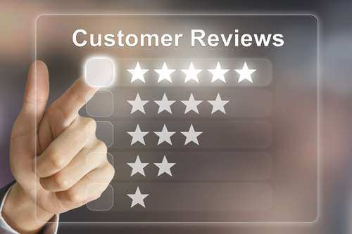 Ask your customers to post their positive experience with your business online.