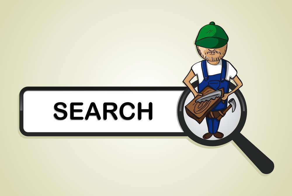 Searching for a carpenter online